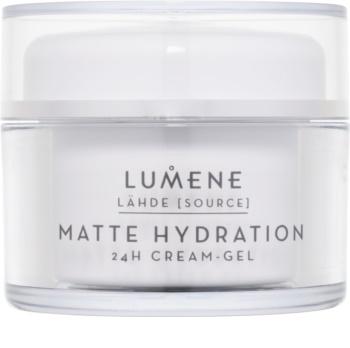 Lumene Lähde [Source of Hydratation] Mattierende Feuchtigkeit spendende Creme mit Gel 24 Std.